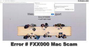 La Estafa Error # FXX000 Mac