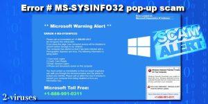 La estafa pop-up ERROR # MS-SYSINFO32