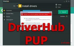El PUP DriverHub