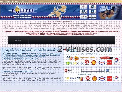 El virus Korps Landelijke Politiediensten