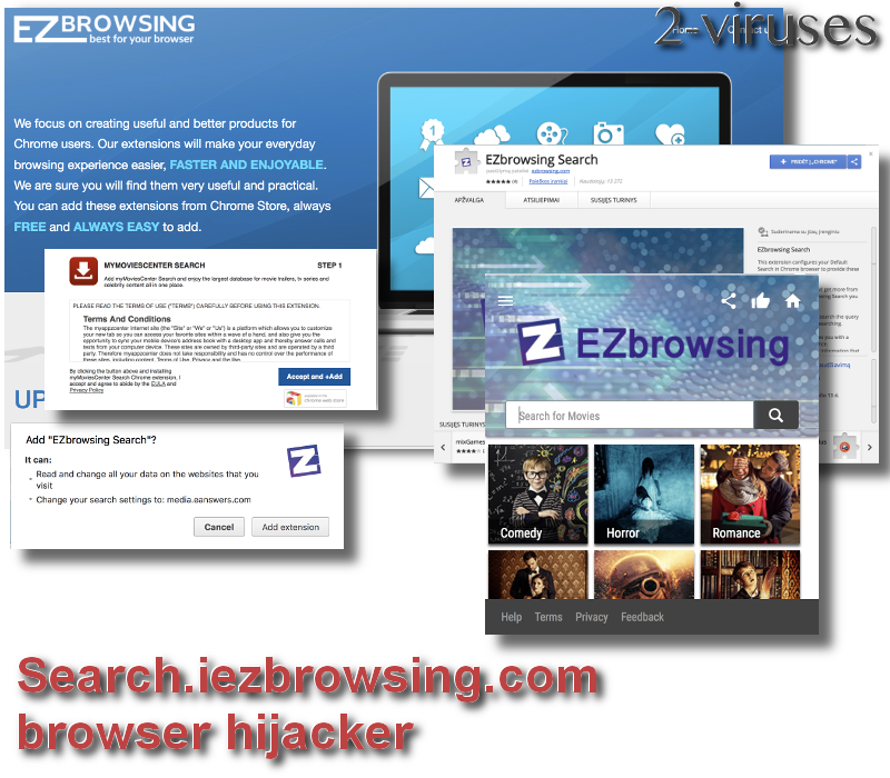 Search.iezbrowsing.com browser hijacker