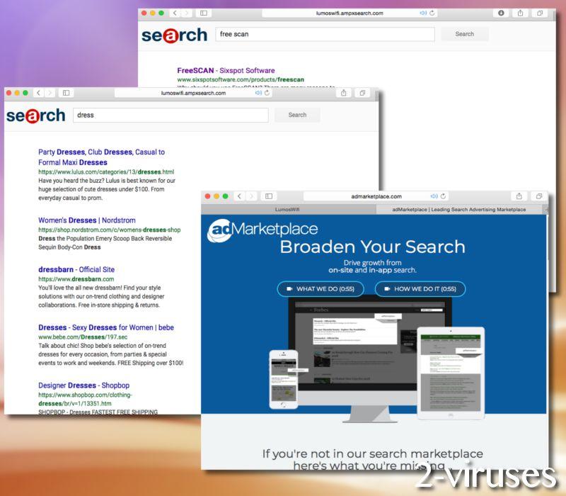 Lumoswifi.ampxsearch.com browser hijacker