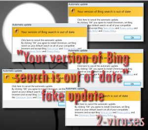 """La alerta falsa """"Your version of Bing search is out of date"""""""